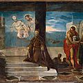 Jacopo tintoretto, doge alvise mocenigo (1507–1577) presented to the redeemer, probably 1577