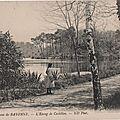 Environs de bayonne l'etang de castillon carte postale ancienne