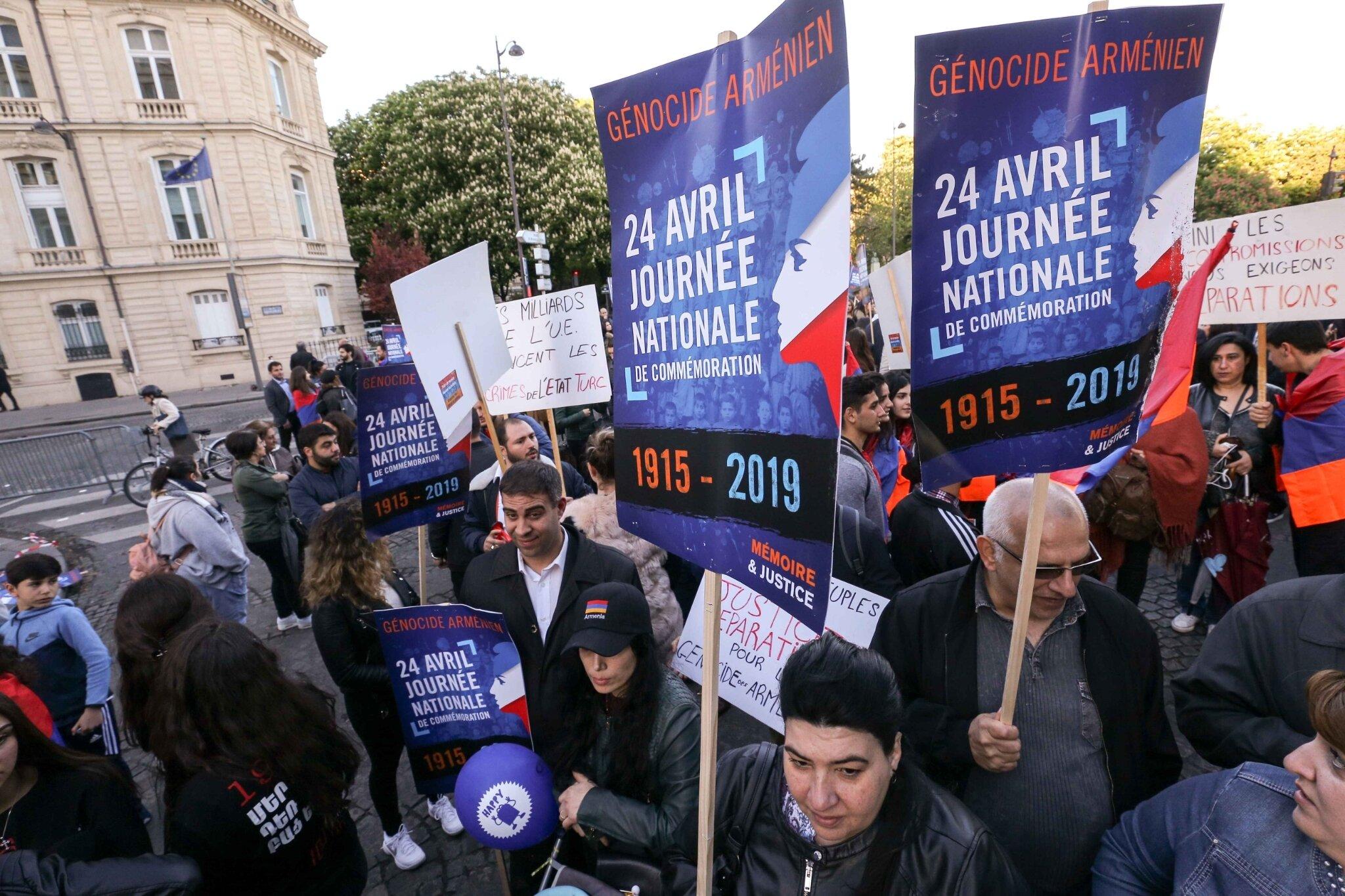 Édouard Philippe défend la commémoration du génocide arménien. © Michel Stoupak. Mer 24.04.2019, 18h53m47.