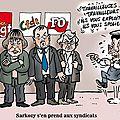 Sarkozy s'en prend aux syndicats