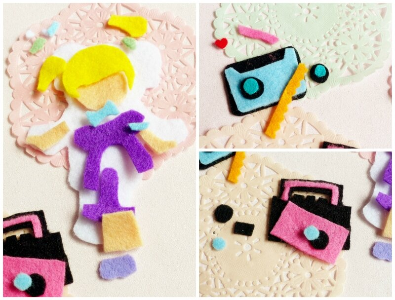 felt-feutrine-polly-pocket-radio-cassette-90's