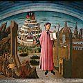 1465 Domenico di MICHELINO : Dante et la Divine Comédie - fresque - Cathédrale de Florence