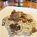 Risotto aux champignons et foie gras poêlé