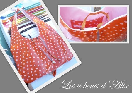 sac a pois orange