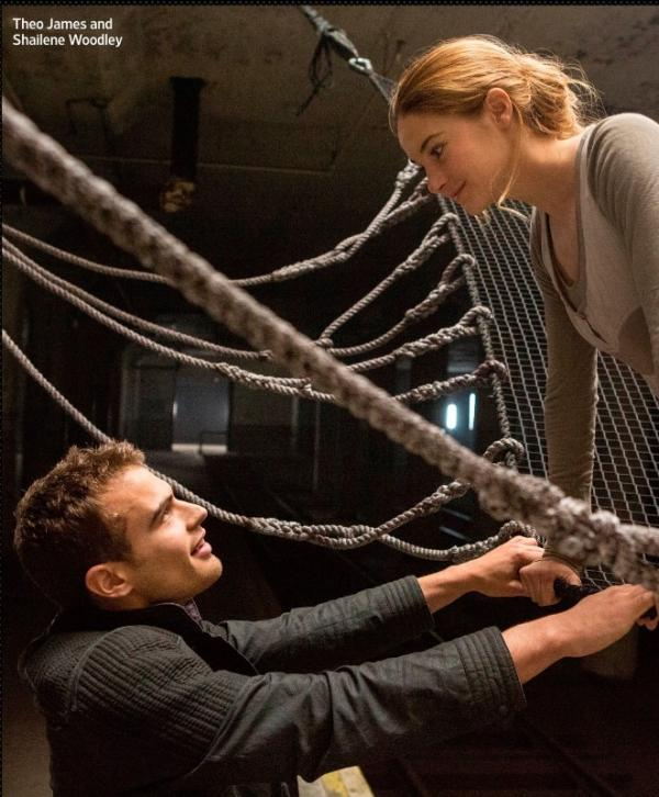 Shailene Woodley and Theo James as Tris and Four Divergent movie 06