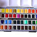 Comment créer sa propre boite d'aquarelle ?
