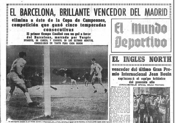 23 novembre 1960 C1 BARCELONE REAL