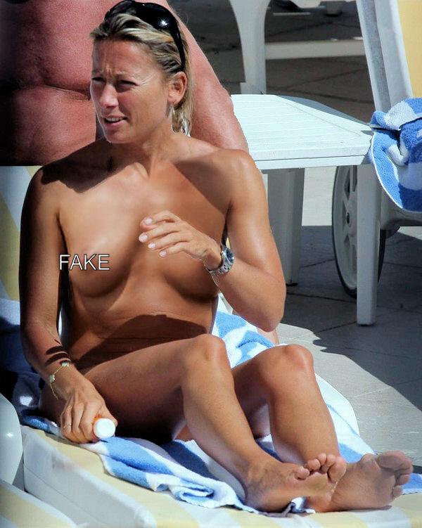 Anne Sophie Lapix, seins nus