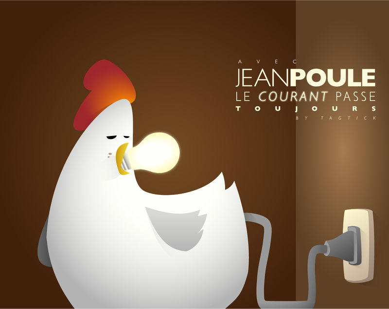 Lampe Poule jean poule is comin' - tagtick© the wouack factory©