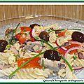 Salade de pâtes aux sardines