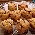 Muffins aux pépites de chocolats