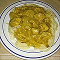 Sauté de porc au curry et aux pommes