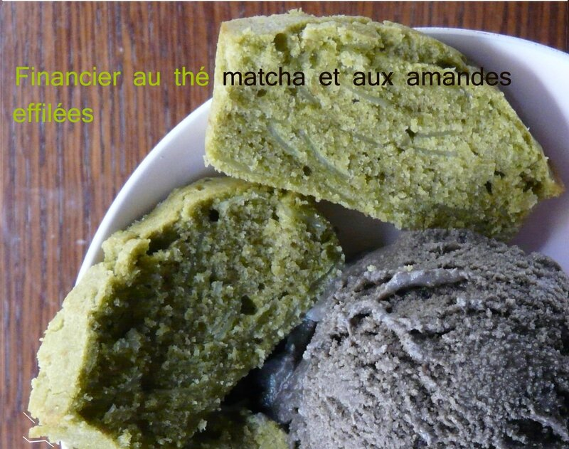 Financier matcha amande