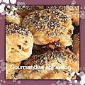 Scones au chorizo, emmental et graines