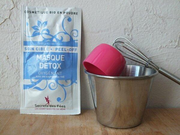 1 Masque Détox Oxygénant avec un soupçon de thé Secrets des Fées