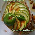 Millefeuille méditerranéen, frites de polenta