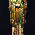 A sancai-glazed pottery figure of an official, Tang dynasty (AD 618-907)