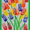 Fleurs à la fourchette