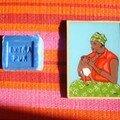 Billet rouge souvenirs de voyage offert par ma