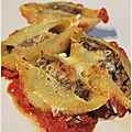 Conchiglie farcie au boeuf et aux aubergines