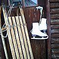- bientot les sports d'hiver - luge et patins -