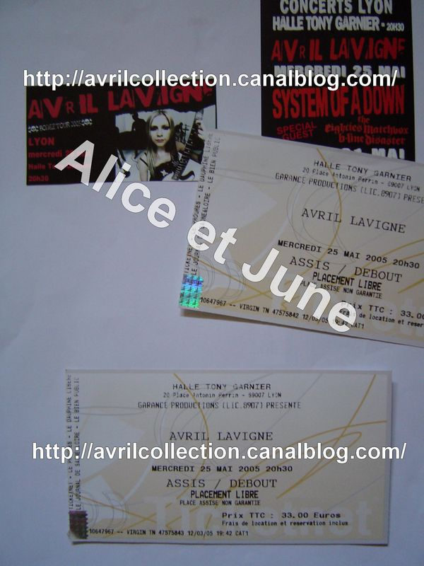 Tickets concert Bonez Tour 2005-25 mai 2005 Halle Tony Garnier