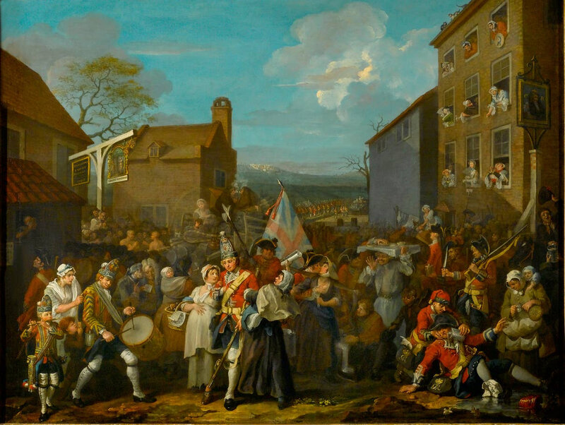William-Hogarth-The-March-of-the-Guards-to-Finchley-1750-The-Foundling-Museum