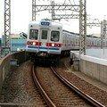 Keisei 3300 (3353) arrivant à Aoto, Tôkyô
