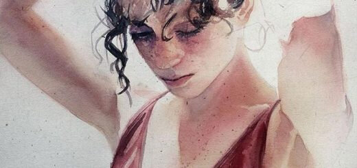 marcos beccari-watercolor-paintings-watercolor-portraits-520x245