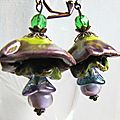 earring fairy ceramic