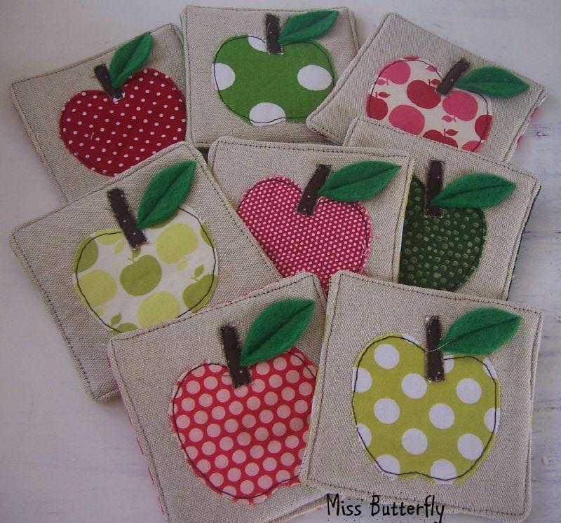 Apple coasters
