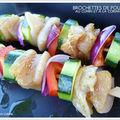 Brochettes de poulet au cumin et à la coriandre !