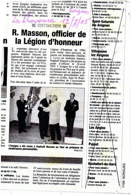 24 Raphael MASSON promu officier ordre L'gion d Honneur 26-04-2005 - Copie