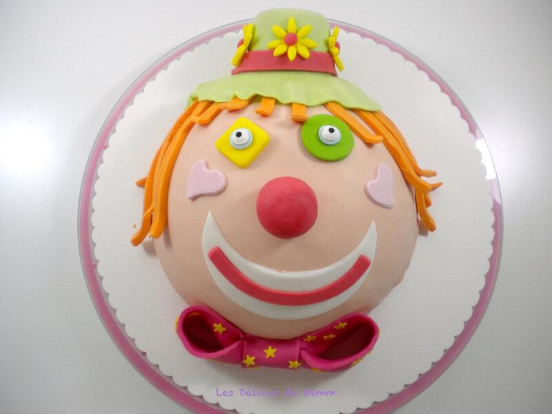 Gâteau clown pour Marion 4