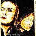 Sandrine Bonnaire et Isabelle Huppert