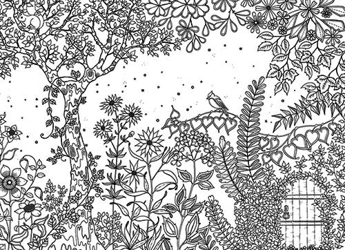 Coloriage Adulte Jardin Secret.Le Jardin Secret De Johanna Basford Londres Calling