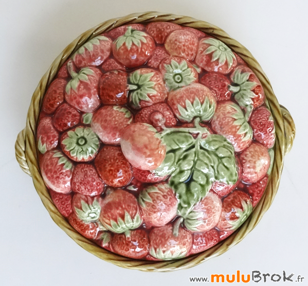 BARBOTINE-Sarreguemines-Corbeille fraises-1-muluBrok-Vintage