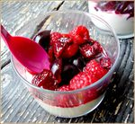 verrine au fruits rouges ( cerise et framboises)1