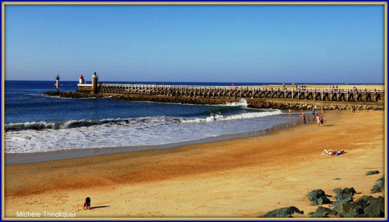Capbreton phares, estacade et plage