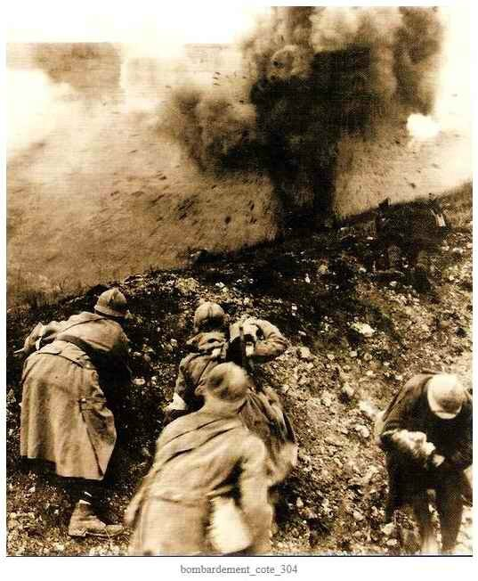 Bombardement cote304