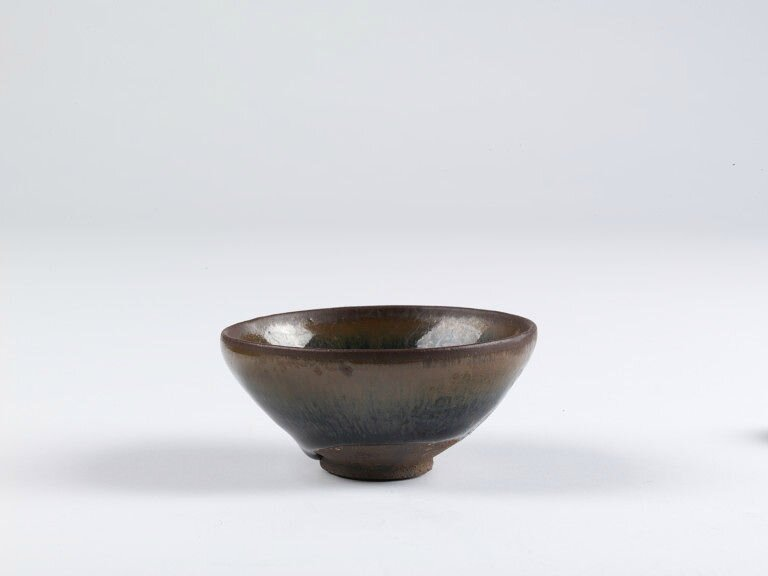 Bowl, stoneware with black glaze and 'hare's fur' effect, Jianyang, Fujian province, China, Northern Song dynasty