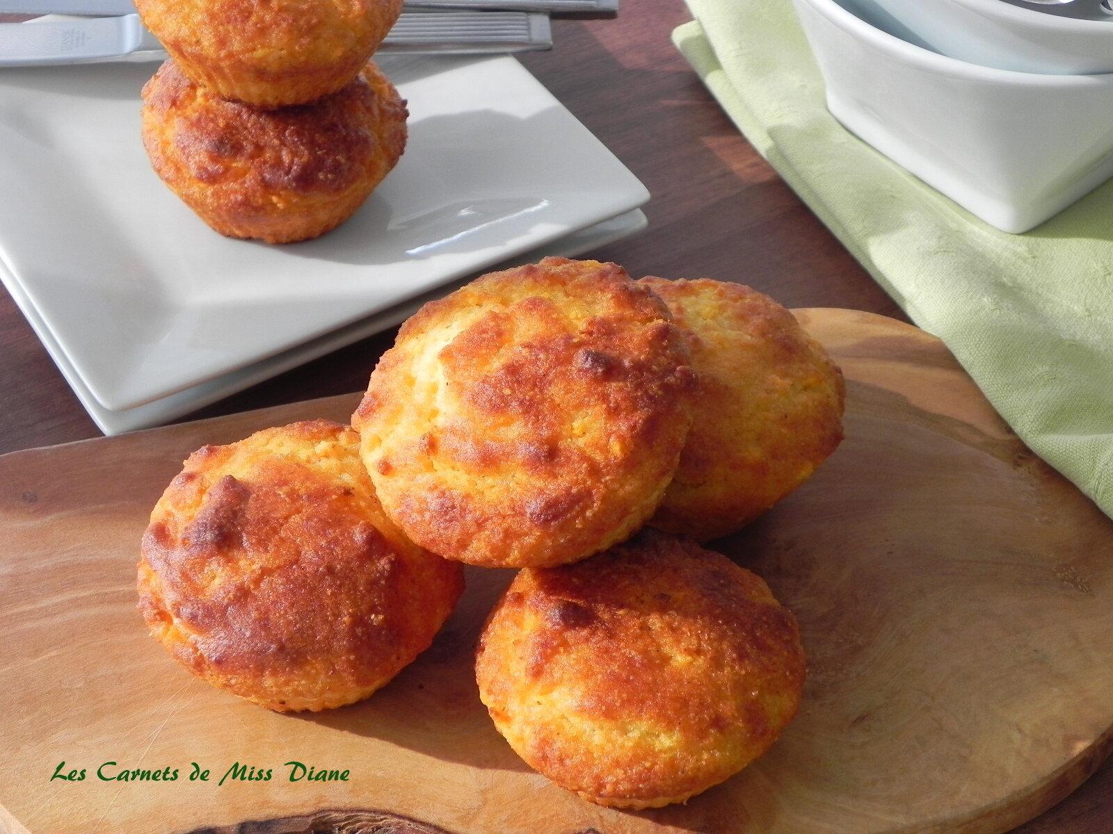 Muffins à la patate douce et à la semoule de maïs