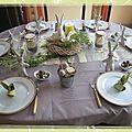 Table de pâques:ambiance naturelle...