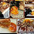 Dacquoise, compotée d'abricots au sirop et mousse gianduja......impossible de résister!!!!