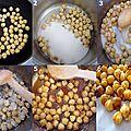Abricots rôtis au pralin