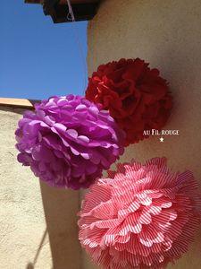 Fleurs papier de soie 3