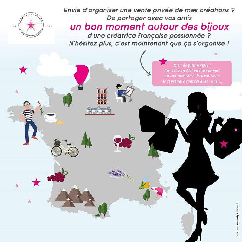 Carte de France des ventes privées LLB
