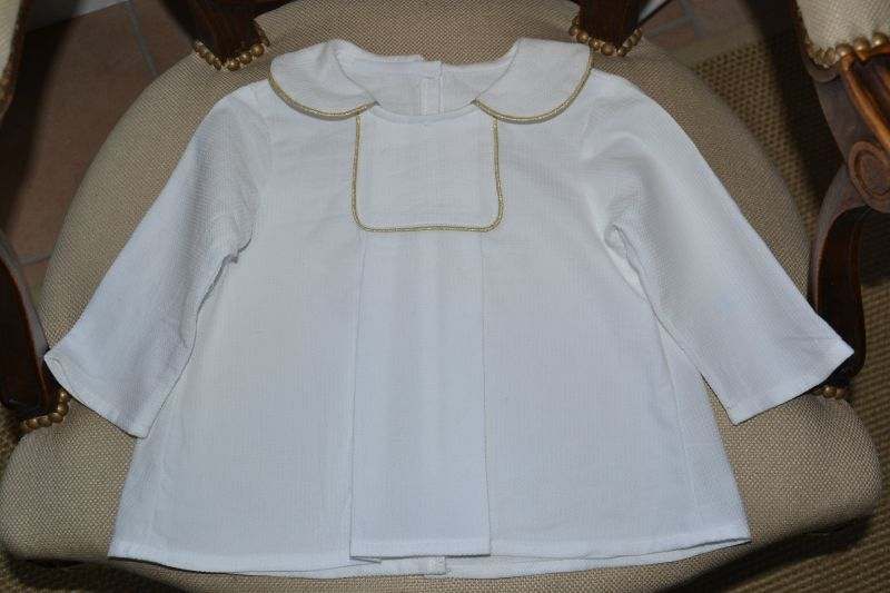 blouse oslo blanche et or