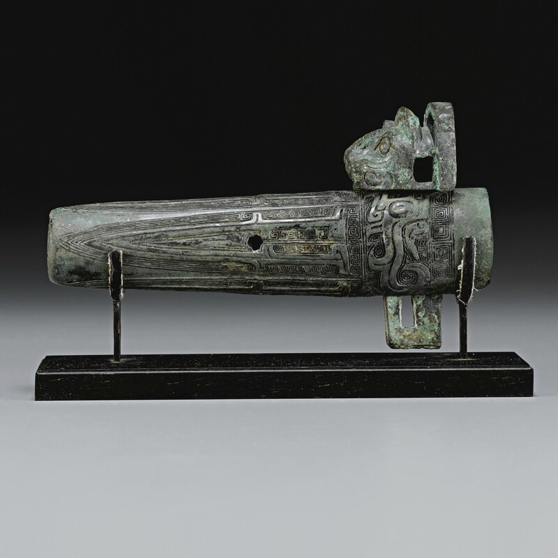 A finely cast bronze chariot fitting, Western Zhou dynasty (c