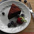 Gâteau au chocolat et à l'avocat, sans gluten et sans lactose
